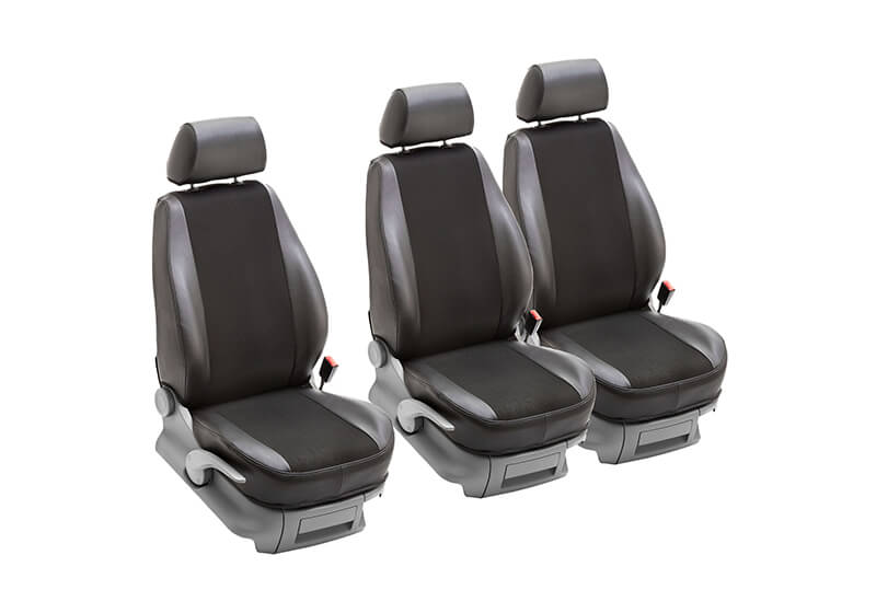Peugeot Partner L2 (LWB) (2008 to 2018):PeBe Transport 3.0 1 + 1 + 1 seat cover set, with headrests, no. 134531NR