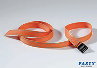 :FASTY Reflector strap 150cm, orange, 25mm wide, 400kg (1 strap) no. FS168