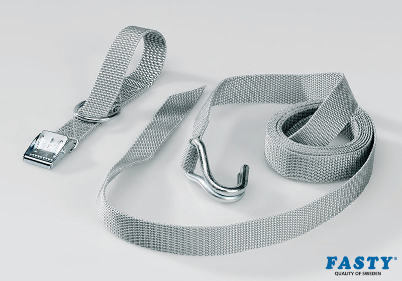 :FASTY Storm strap 270cm, silver-grey, 25mm wide, 200kg (1 strap)