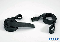 :FASTY strap (2 parts with loops, 130 and 170cm), black, 25mm wide, 200kg