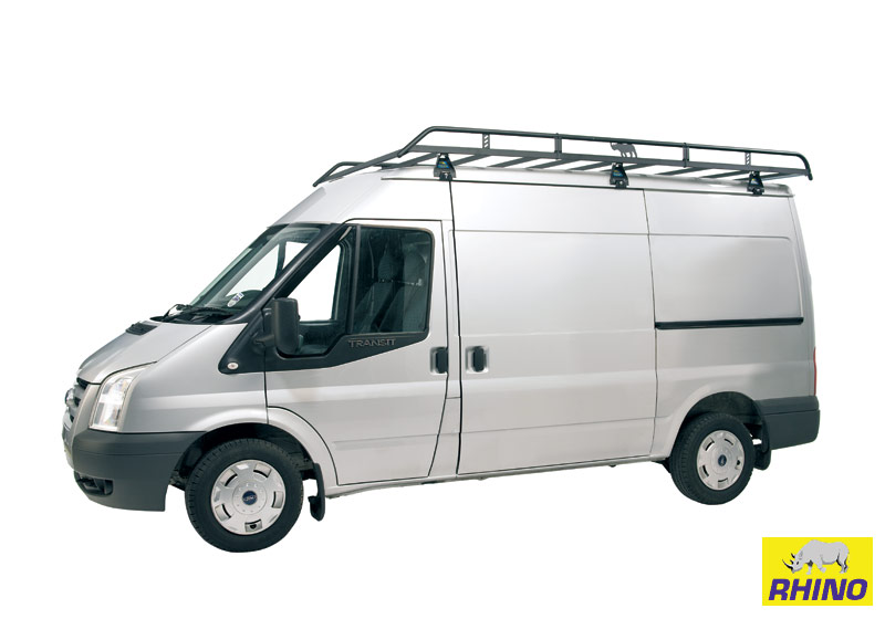 Ford Transit 00-14 M//LWB - Medium Roof 4 Bar Rhino Delta Roof Bar Kit