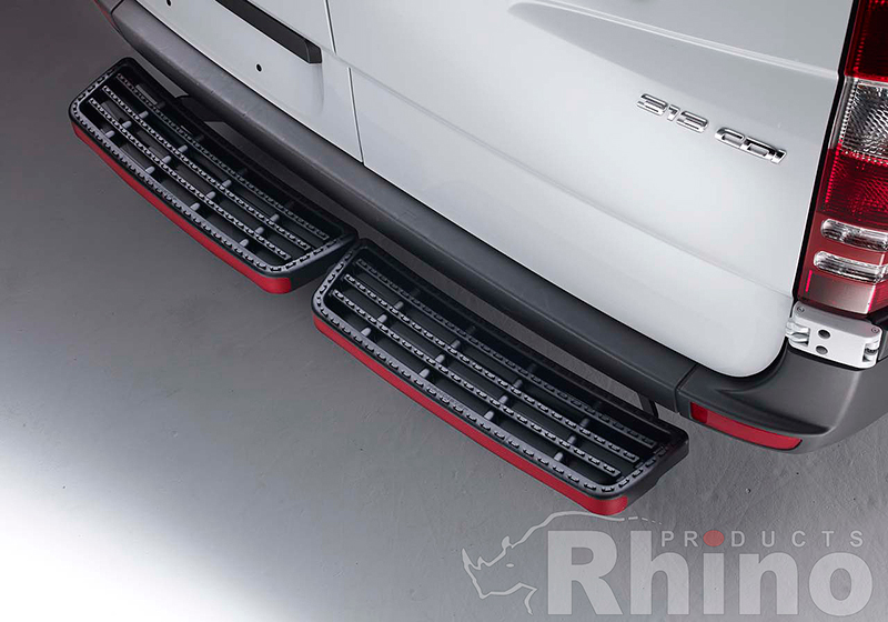 Citroen Relay L3 (LWB) H2 (high roof) (2006 onwards):Rhino AccessStep - twin black (no reversing sensors), SS211B