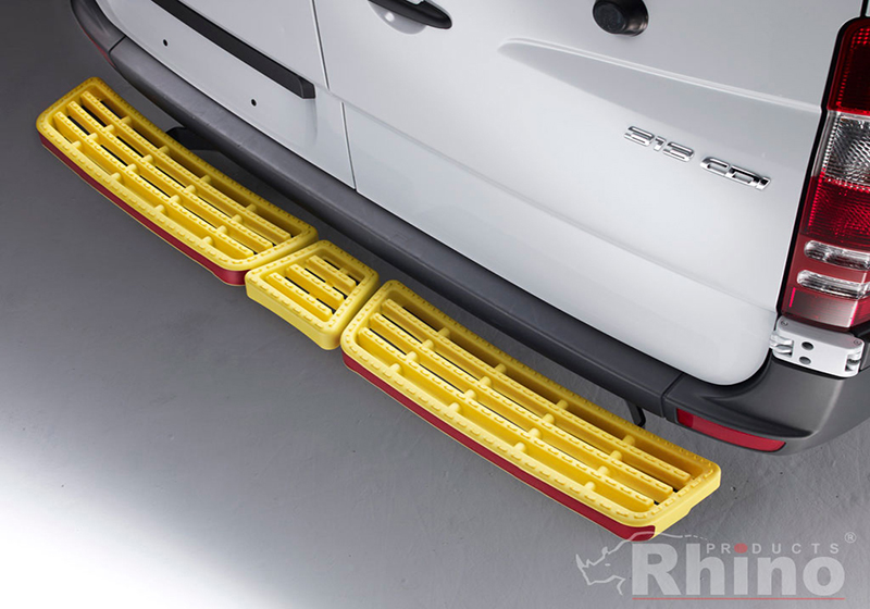 Citroen Relay L3 (LWB) H2 (high roof) (2006 onwards):Rhino AccessStep - triple yellow (no reversing sensors), SS311Y