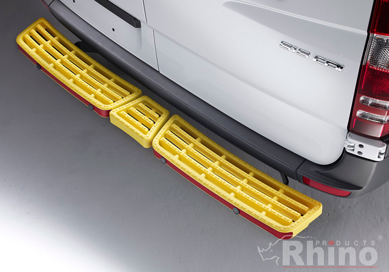 Citroen Relay L3 (LWB) H2 (high roof) (2006 onwards):Rhino AccessStep - triple yellow with Connect+ reversing sensor kit, SS311YOE