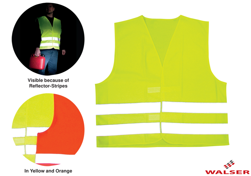 Walser reflective safety vest, adults' yellow, 43998