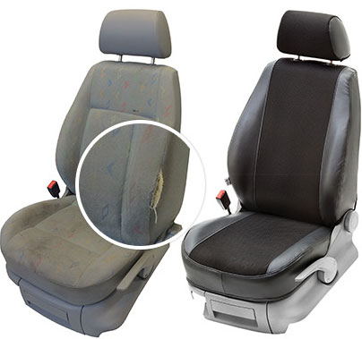 With and without a seat cover